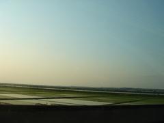 潮来の田んぼfrom東関道