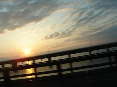 2010年5月30日神宮橋からの夕日