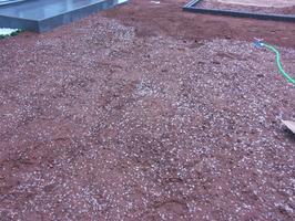 鹿嶋市植栽工事groomあも青保水材