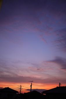 鹿嶋市エクステリアgroom事務所からの夕暮れ