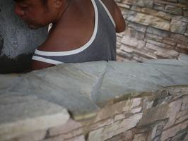 石張り 塀