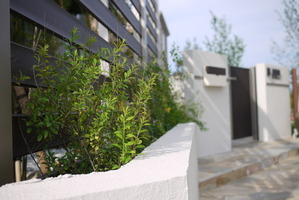 A部門応募写真和室前植栽+デザイナーズパーツ