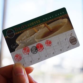 タリーズコーヒースタンプカード