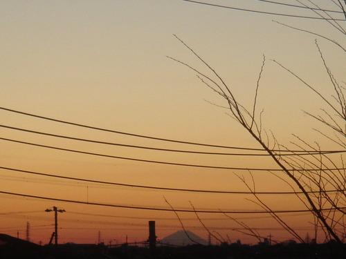 延方からの富士山