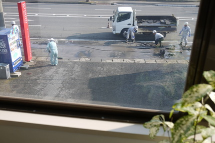 道路の切り下げ工事
