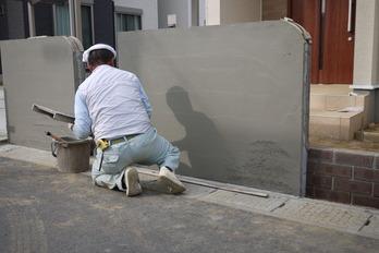 壁塗り中!!