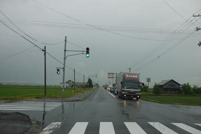 北海道の信号は縦でした