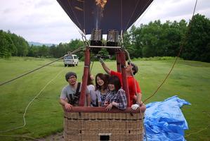 気球に乗ってどこまでも♪