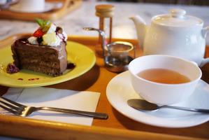 cafe good life のチョコレートケーキ