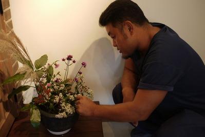 高橋さんとお花