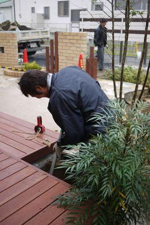 植栽工事中