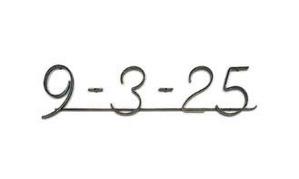 フラットバー表札(数字)
