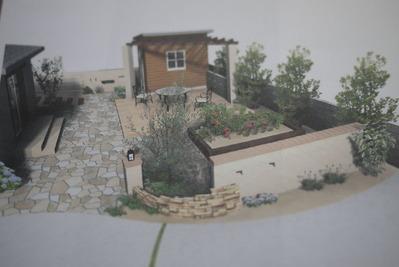 小屋のあるお庭