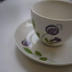 お花柄のティーカップ