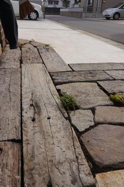 枕木&自然石