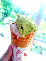 アスパラ&花豆のアイス