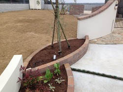 レンガ花壇3