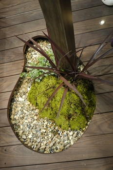 ひょうたん型の植栽スペース