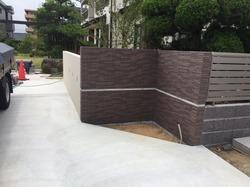 タイル貼りの門壁 (4)